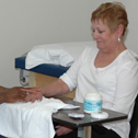 IPT hand therapy on a patient